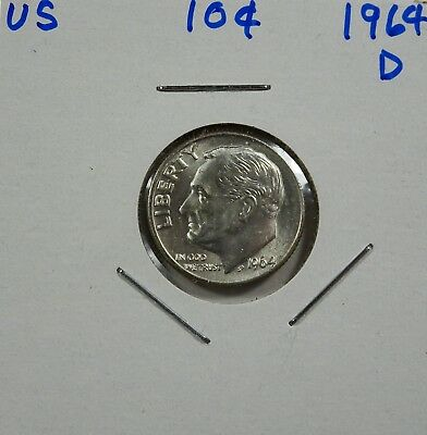 1964-D Roosevelt Dime   Choice to Gem Uncirculated - Low Shipping