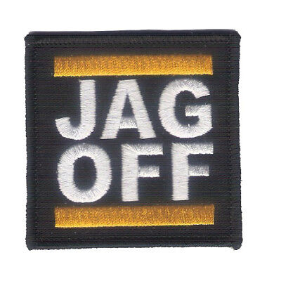 "Hook & Loop Back 2 1/2"" X 2 1/2"" JAG OFF Embroidered Patch - Harley - Pittsburgh"