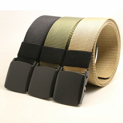 Men's Belt Outdoor Sports Breathable Military Tactical Nylon Waistband Canvas