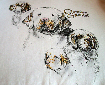 "Clumber Spaniel T-shirt  "" Natural ""  Small ( 34 ~ 36 )"