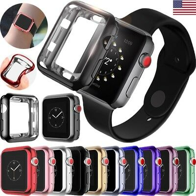 TPU Bumper iWatch Screen Protector Case Cover 38/42 For Apple Watch Series 3/2/1