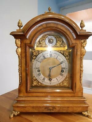 Burr Walnut Ormolou Mounted Westminster Bracket Clock G.W.O.