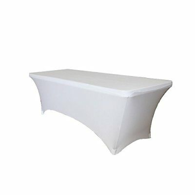 Fitted Spandex Wedding Table Cover 8 ft feet Rectangular Stretch Tablecloth by P