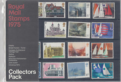 Gb Mnh Presentation Collectors' Pack 1975 Full Commemorative Stamp Year