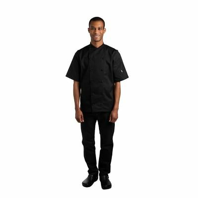 Le Chef Unisex Short Sleeve Chefs Jacket Buttons Resturant Clothing Luxury