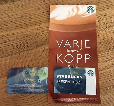 Starbucks Sweden rare card with sleeve version #1