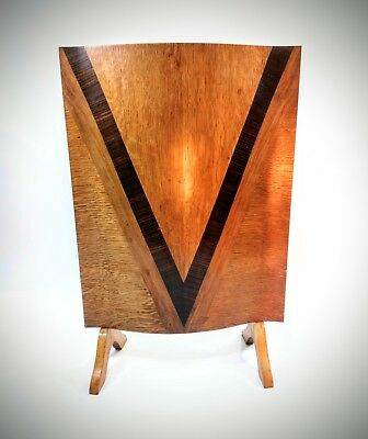Art Deco Inlaid Fire Screen Wid & Son