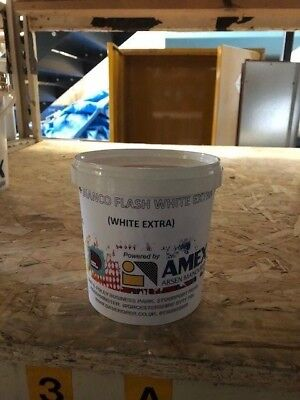 White Plastisol Screen Printing Ink 1kg - for textile and garment printing