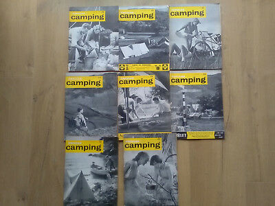 Vintage Popular Camping Magazines From 1961 X 8