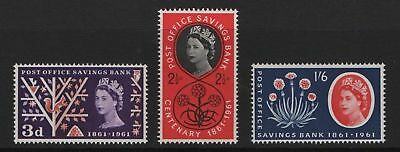 GB MNH STAMP SET 1961 Post Office Savings Bank SG 623a-625a UMM