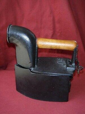 "Antique Cast Iron Clothes Steam Iron Marked ""No.4"""