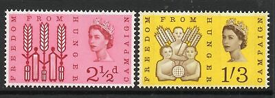 GB MNH STAMP SET 1963 Freedom from Hunger SG 634p-635p UMM