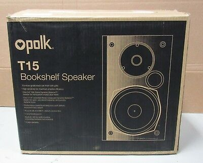 Polk Audio T15 Bookshelf Speakers Pair Black