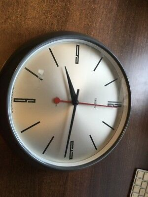 Great Original Large Smiths Sectric Wall Clock In Full Working Order!