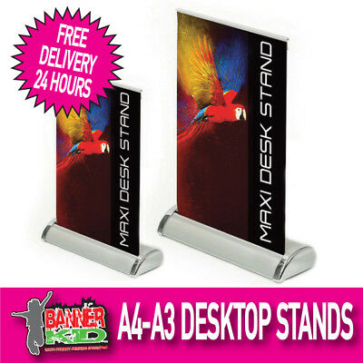A4-A3 Desktop Roller Banner Display Stand-Pop / Pull / Roll Up Sign Exhibition 2