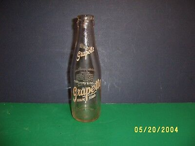 VINTAGE 1940 6 oz GRAPETTE SODA BOTTLE ANNAPOLIS MARYLAND EASTPORT MD  COLA