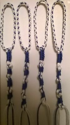 NEW, Royal Blue/White, Knotted Style, BRAIDED LOOPS, Tzit Tzit, Tzitzit, Tassels