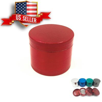 Tobacco Herb Grinder Spice Herbal Alloy Smoke Crusher 4 Piece  USA Seller