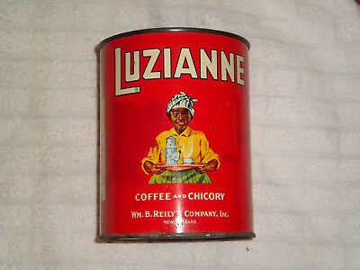 VINTAGE Luzianne Coffee and Chicory 1lb Tin