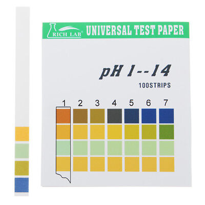 Universal PH Test Strips Full Range 1-14 Indicator Paper Tester 100 Strips Boxed