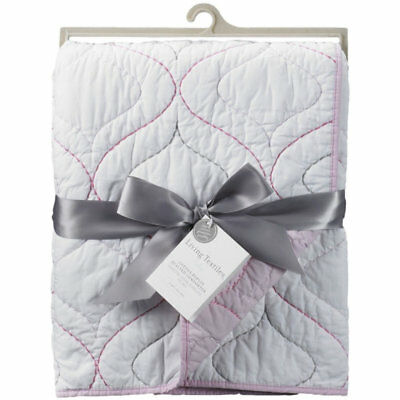 NEW Living Textiles Cotton Poplin Quilted Cot Comforter from Baby Barn Discounts