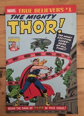 True Believers Kirby 100th The Mighty Thor #1 Marvel Comics 2017