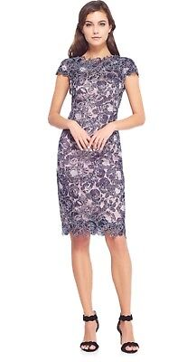 7c828101 NEW TADASHI SHOJI Embroidered Lace Sheath Dress in Blue - Size 6 ...