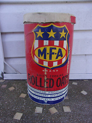 Old MFA Shield Rolled Oats Container Springfield Grocery Co As Is 1940s Advertis