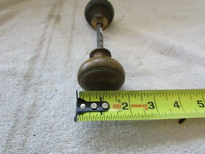 VTG Antique Solid Heavy Brass Door Knob Set Victorian Eastlake Ornate