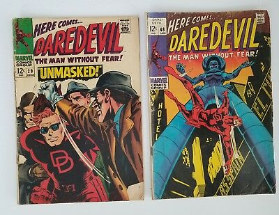 Here Comes... Daredevil Lot of (2) #29 and #48 Marvel Comics 1967 Silver age