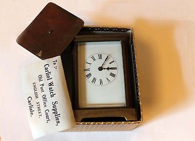 Old Antique ? Carriage Clock  Old Carriage Clock ? Funny Note With It £1 Start