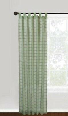 Park B Smith Vintage House Hutton Dark Sage Green Tab Top Window Panel Curtain