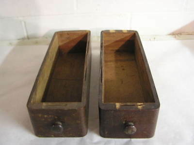 2 Vintage Treadle Sewing Machine Wooden  Drawers