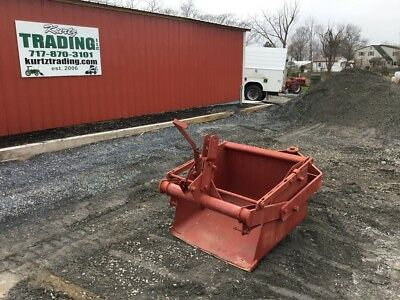 """36"""" 3pt Pond Scoop Attachment for Compact Tractor! No Reserve!!"""