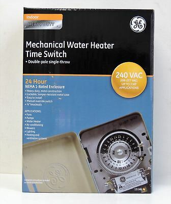 NEW, GE 40-Amp 120/240-Volt 24-Hour Indoor Water Heater Timer