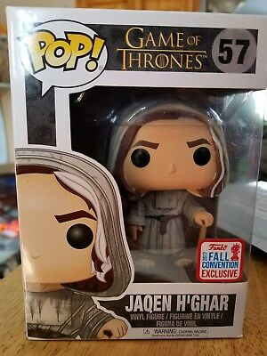 Funko Pop! NYCC 2017 Fall Exclusive Game of Thrones JAQEN H'GHAR #57 BUNDLE