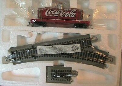 Hawthorne Village COCA COLA Coke Tanker Train w/ Tracks Holiday Roadside - New