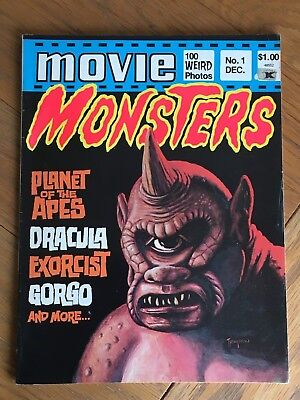 Movie Monsters No.1 December 1974 - Planet of the Apes, Dracula, Exorcist etc