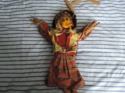 Traditional Balinese Indonesia String Two Faced Puppets Marionette Doll Ref65