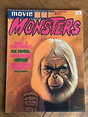 Movie Monsters No.2 February 1975 - Planet of the Apes, Doc Savage, Rodan etc