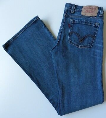 Women's Levis 609 Flared Jeans Size 12R (Eur 38R) Blue W30 L32 Flares Stretch