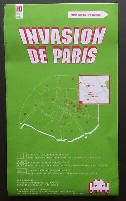 Space Invader Invasion of PARIS  #20 2011 invasion map