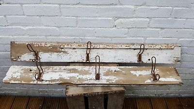 Vintage/industrial/school coat racks.