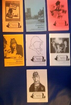 Sherlock Holmes - 7 issues, Canadian Holmes, Scion Society Journal