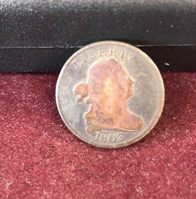1803 Draped Bust Half Cent 1/2 Colonial Copper US Coinage