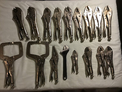 Vice Grip Tools Assortment - Peterson and Irwin Mixed Lot 17 Pieces