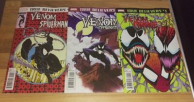 Venom Set Marvel True Believers 1 Venom Carnage, Symbiosis and vs Spiderman NM