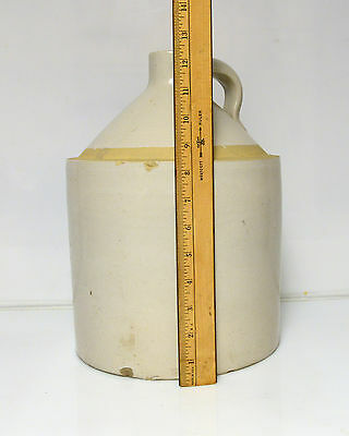 "Vintage Stoneware Crock Jug Moonshine Whiskey 12"" appx almost 11 lb"