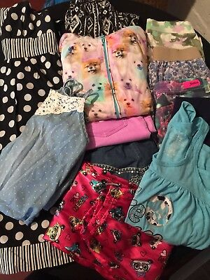Girl's Justice Clothing Lot of 12 items Size 14/16 EUC Dress, Shorts, Tank etc.