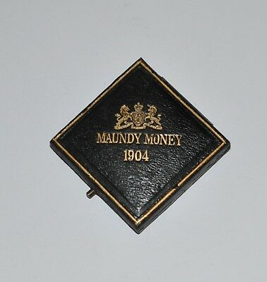 Antique English Maundy Money Coins in Box  C. 1904
